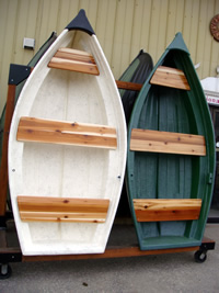 8 Foot Dinghy - Fibreglass Boat hanging